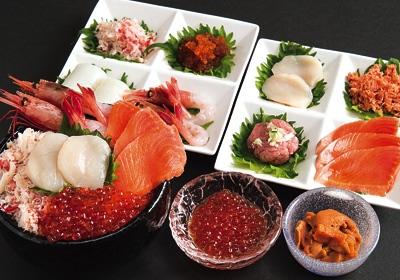 選べる海鮮五色丼